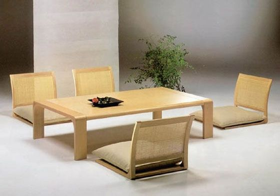 The Zataku Dining Table Is Traditional Japanese Style Dining