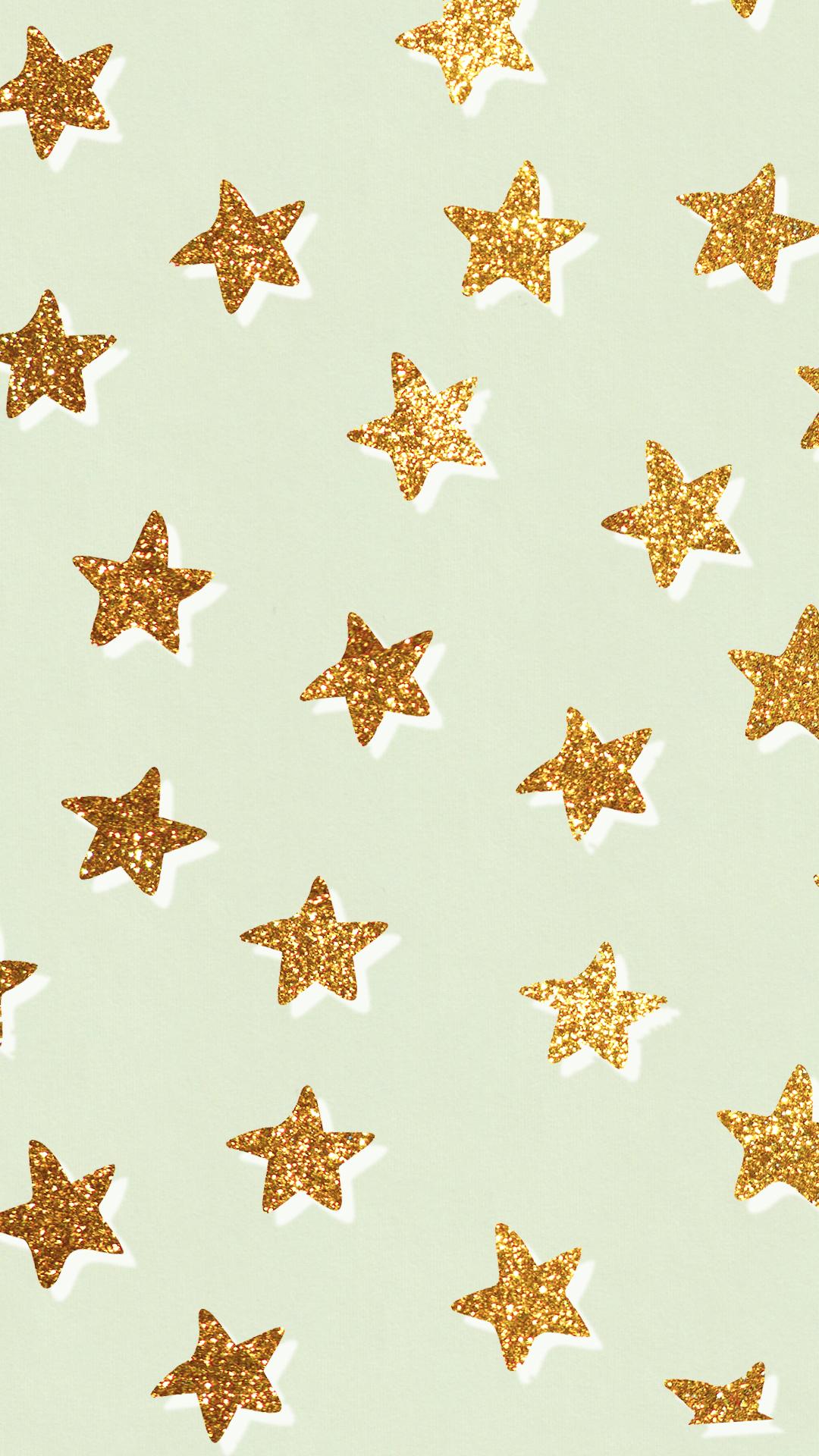 c u t e  aesthetic glitter star pattern