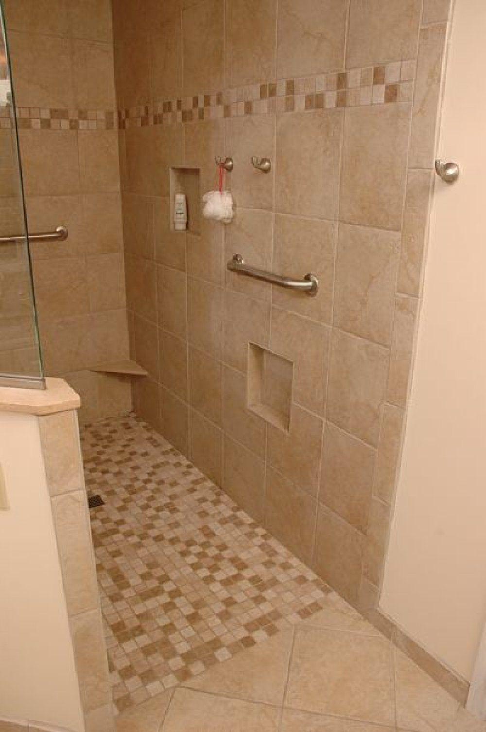 Open Shower No Door Designs Small Bathroom With Shower Showers Without Doors Walk In Shower Designs