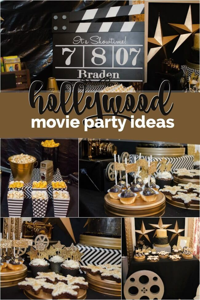 A Boy S Hollywood Movie Themed Birthday Party
