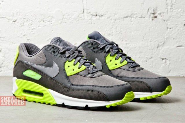 quality design 04adb 58308 ... purchase nike air max 90 essential cool grey volt sneaker freaker 96dc6  0e3b9