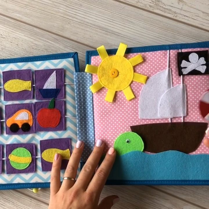 Quiet book sale, handmade felt book, Busy book for baby