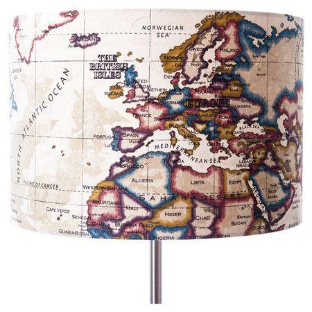 Vintage Map Lamp Shade  at Joss and Main