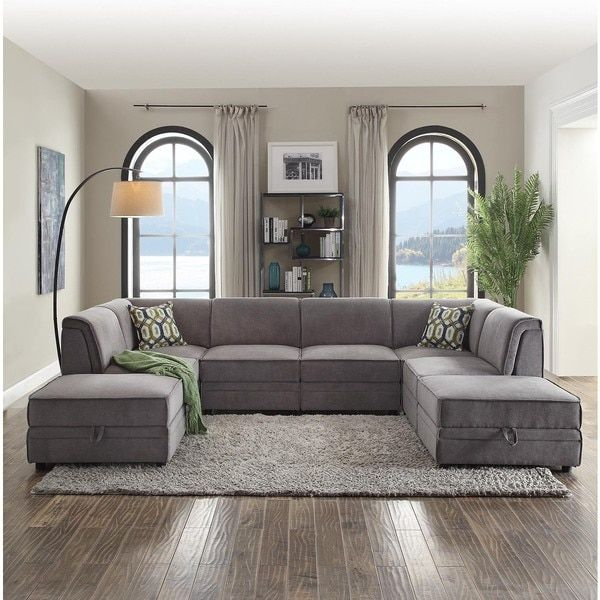 Acme Furniture Bois Grey Velvet Corner Wedge With 1 Pillow  For Fascinating Living Room Corner Furniture Designs Inspiration Design