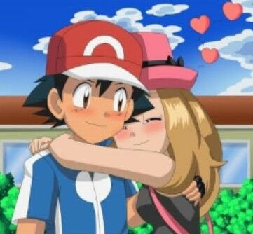 serena hugs ash satoshi amourshipping4ever ash x