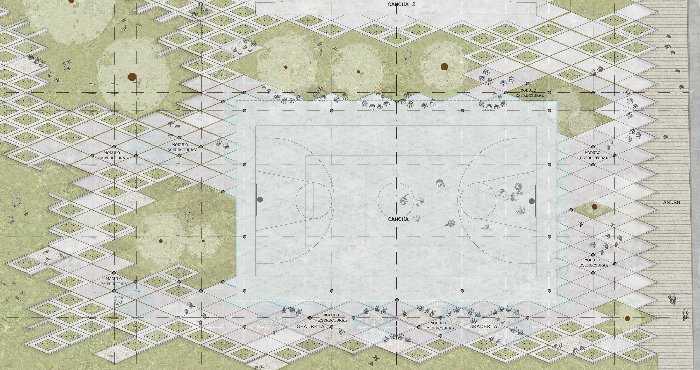 Barranca Cultural and Sports Center, El Equipo Mazzanti, Floor Plan