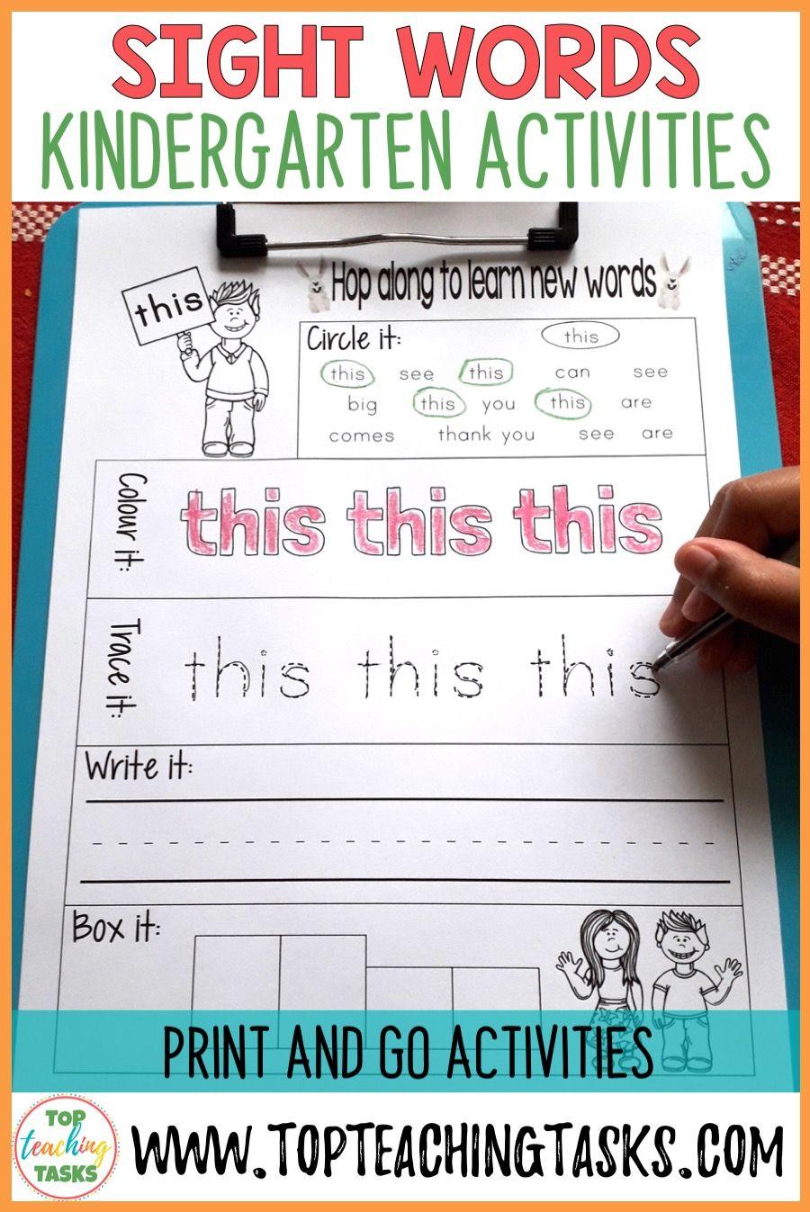 Sight Words Printables For Kindergarten Dolch Sight Words Kindergarten Sight Words Kindergarten Activities Word Activities [ 1347 x 900 Pixel ]