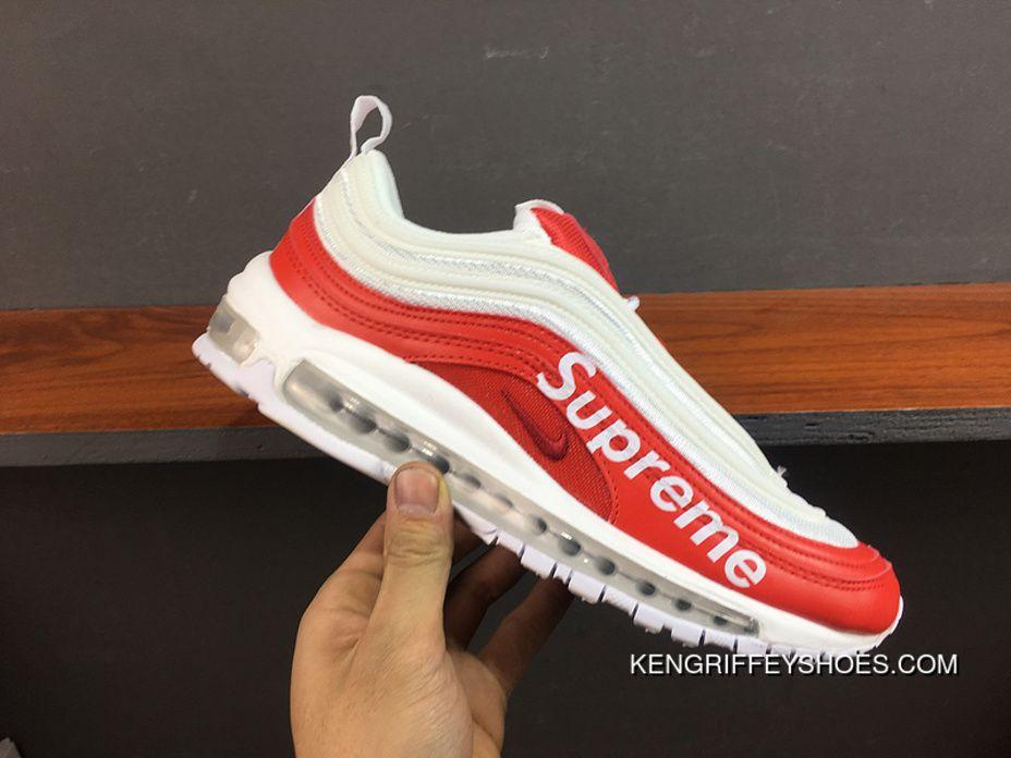 Supreme X Nike Air Max 97 White Red Aj1986 020 Super Deals
