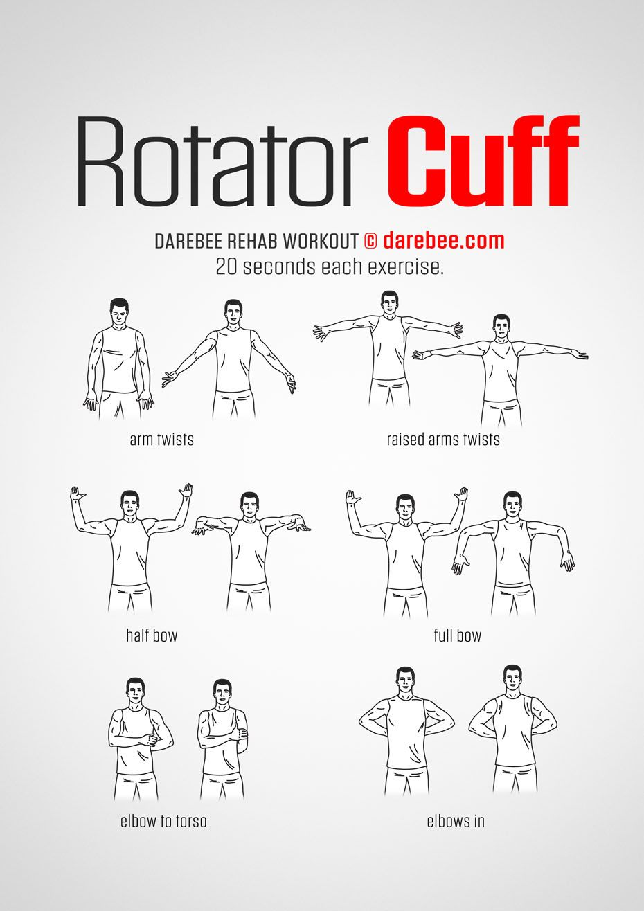 Rotator Cuff Workout Get Fit Darebee Workouts
