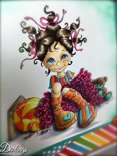 Just4FunCrafts and DoveArt Studios: To be Young Again. Copics: E50 E51 E21 BV20 skin E43 E44 E49 hair RV34 RV19 RV69 pink E31 E35 E57 shoes BG32 BG49 teal YR02 YR04 YR68 orange Y15 Y19 yellow E42 E43 E44 book