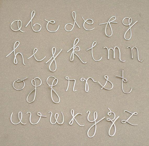 martha stewart wire letter alphabet google search With wire alphabet letters