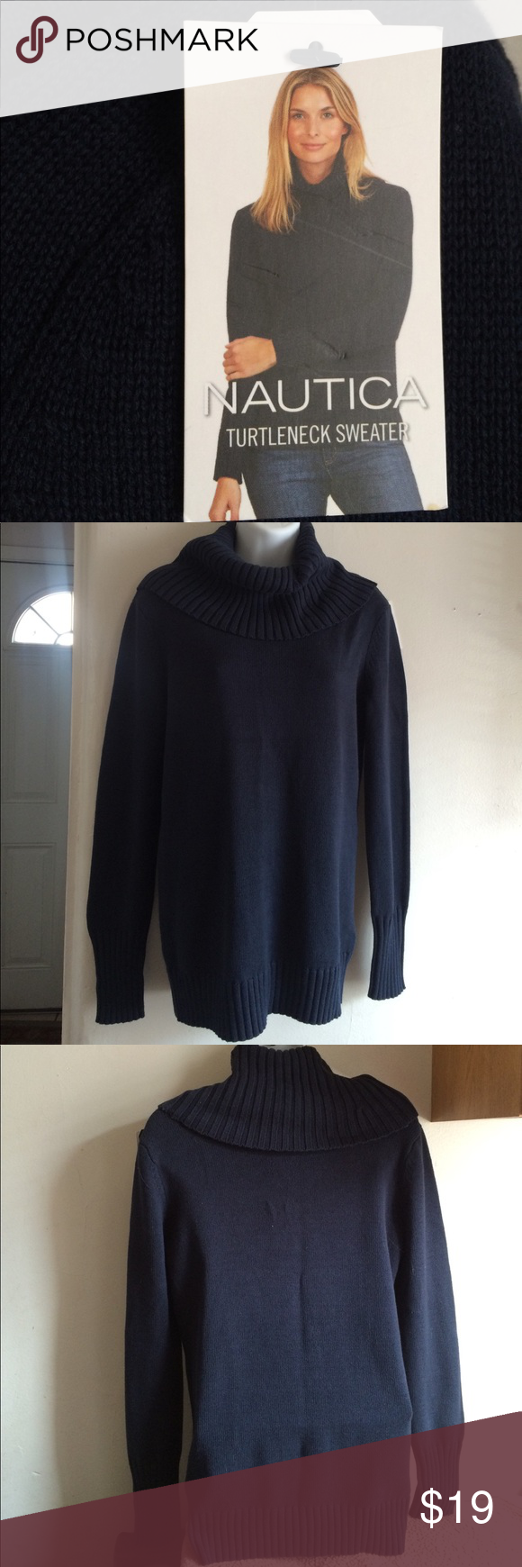 🍁NAUTICA-Turtleneck sweater🍁 | Navy blue, Navy and Cotton