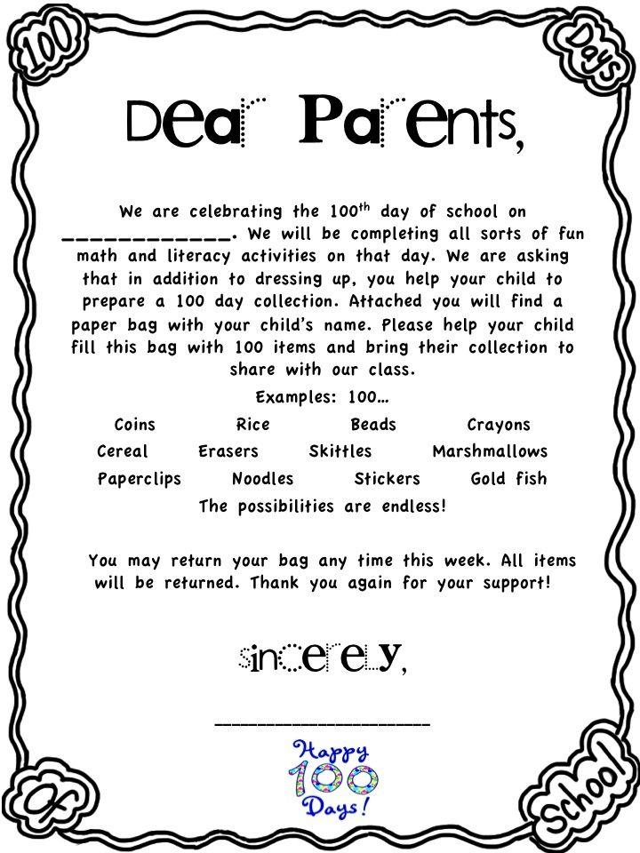 Image Result For Sample Letter For Kindergarten Parents To Send
