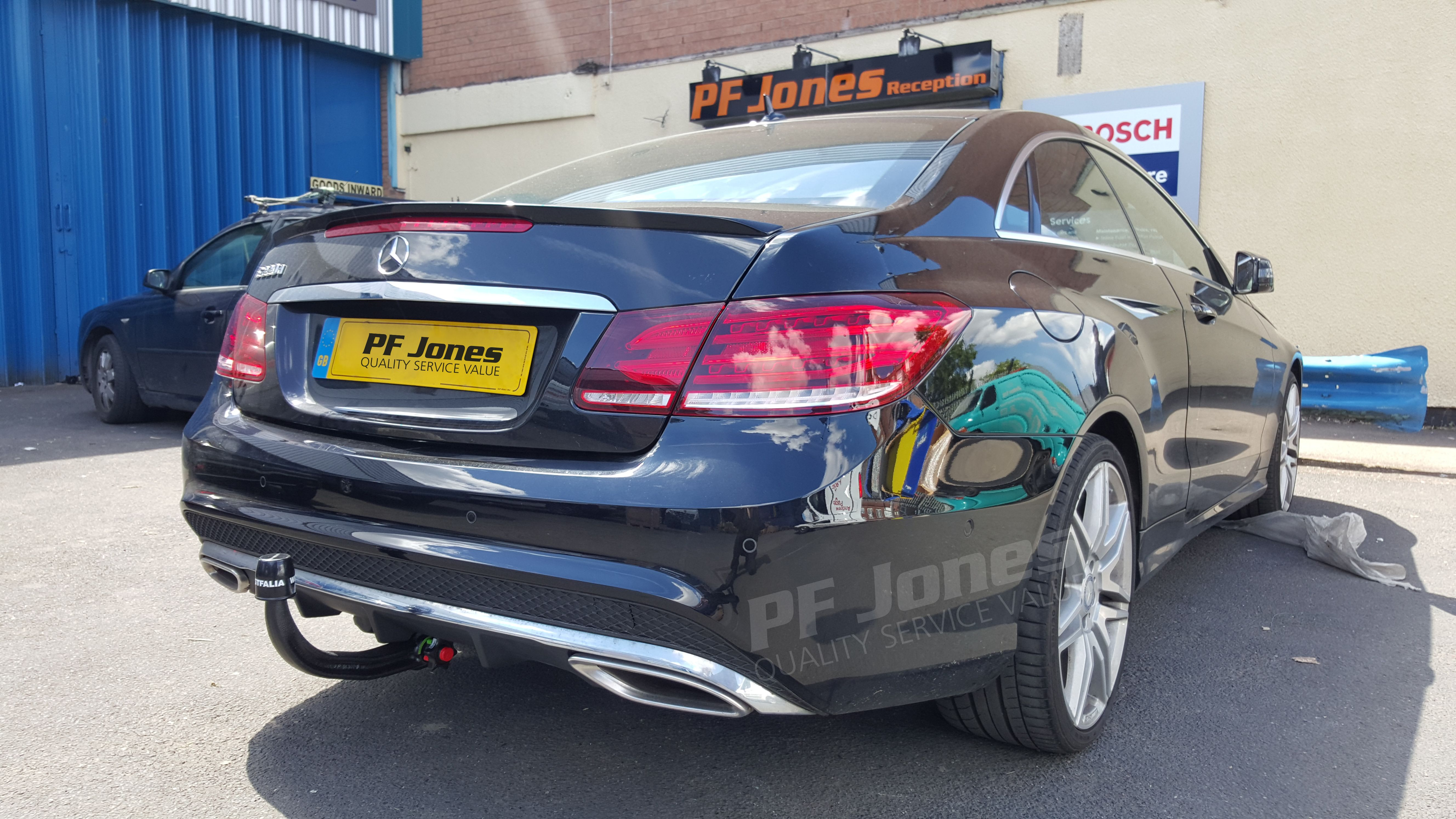 Mercedes e class coupe 2015 fitted with a westfalia detachable swan mercedes e class coupe 2015 fitted with a westfalia detachable swan neck towbar publicscrutiny Gallery