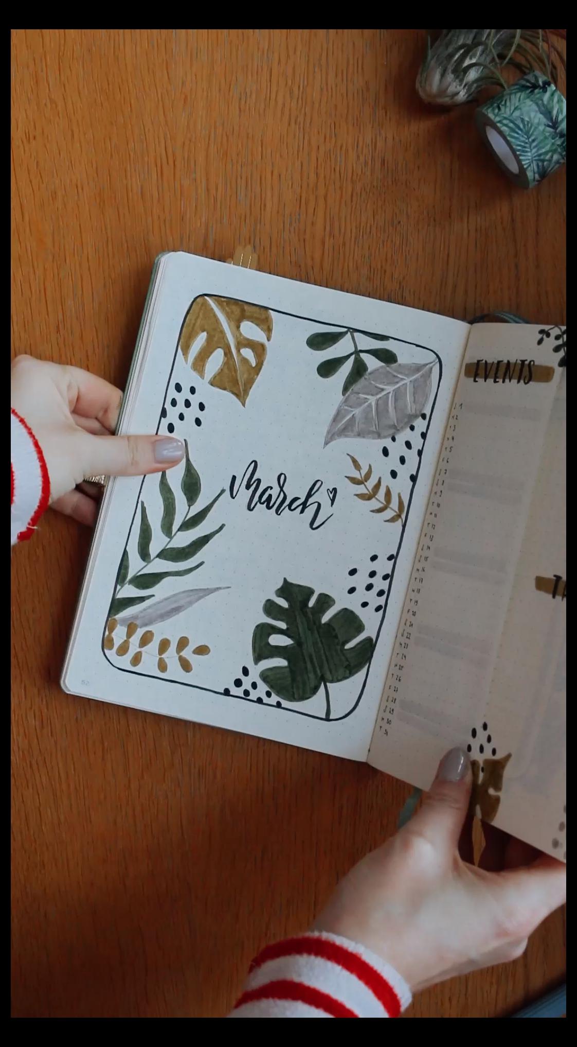 clock doodle bullet journal