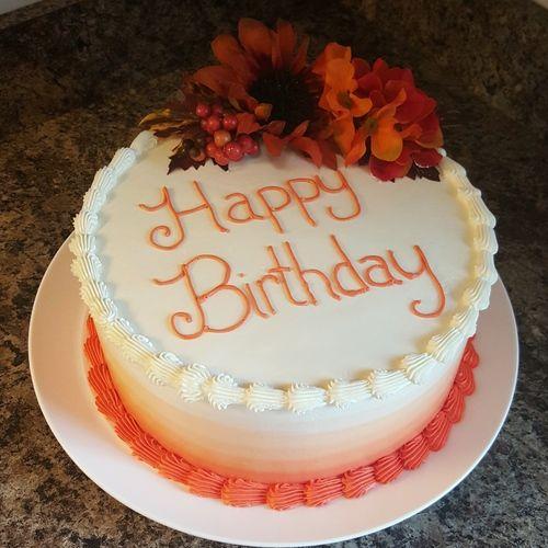 Superb Orange Ombre Birthday Cake By Freshbakedva Com Birthday Cake Personalised Birthday Cards Beptaeletsinfo