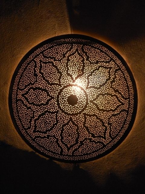Décoration Maroc Appliques Murales Marocaines En Métal Appliques