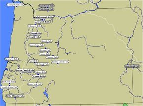 Map Of Oregon Waterfalls This Should Say Falls In Western