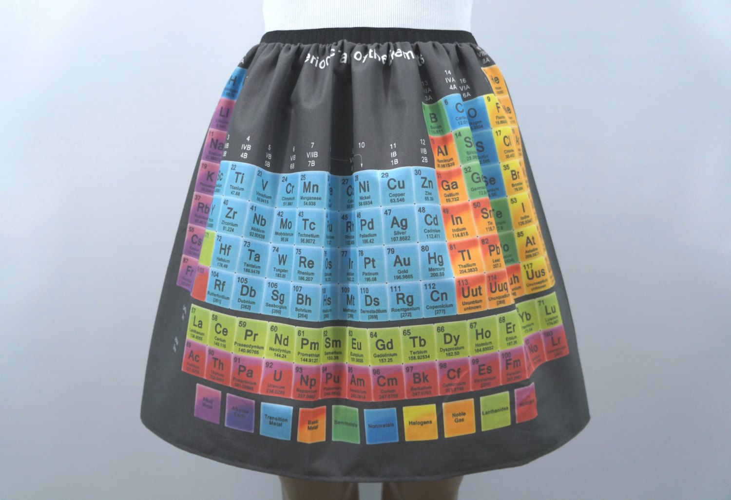 Periodic table of elements skirt made to order mahi way periodic table of elements skirt made to order urtaz Image collections