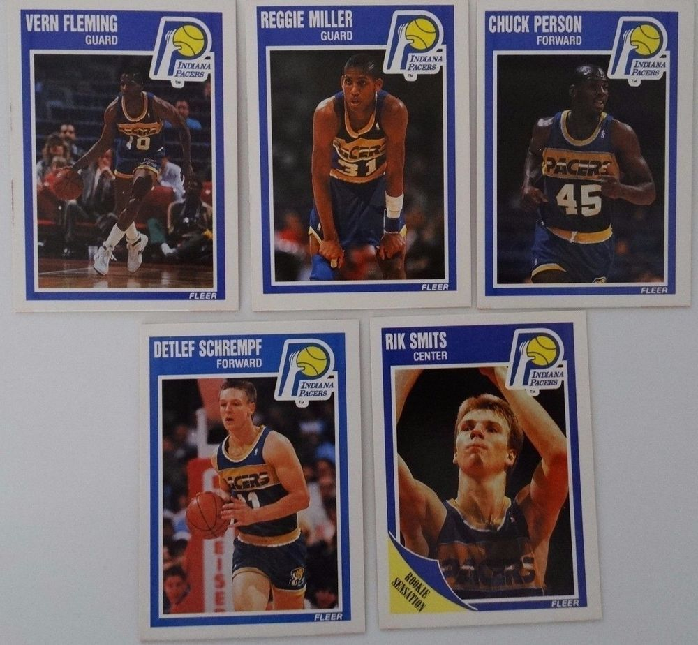 Details about 198990 fleer indiana pacers team set of 5