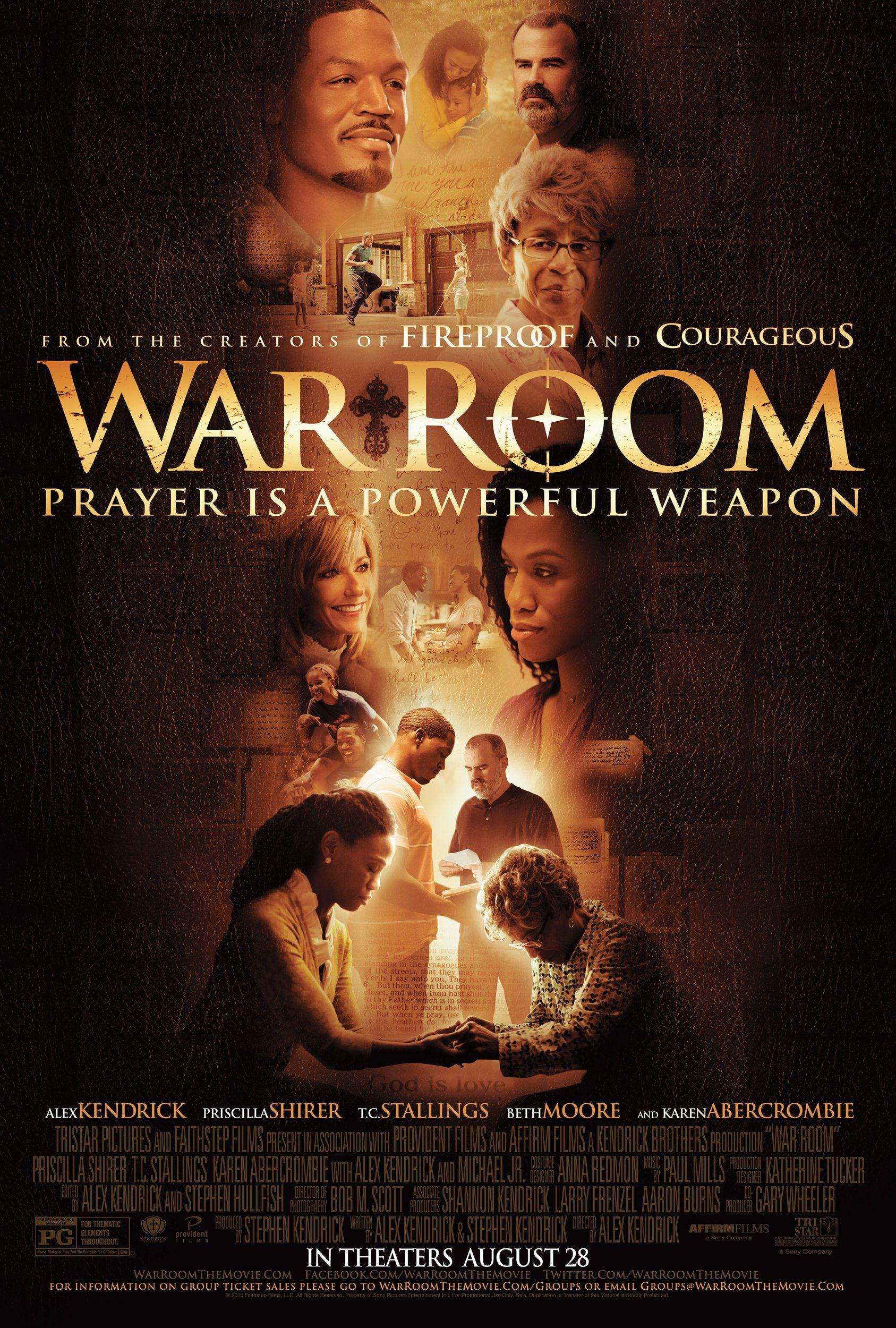 War Room (2015) Film Poster War room movie, Christian