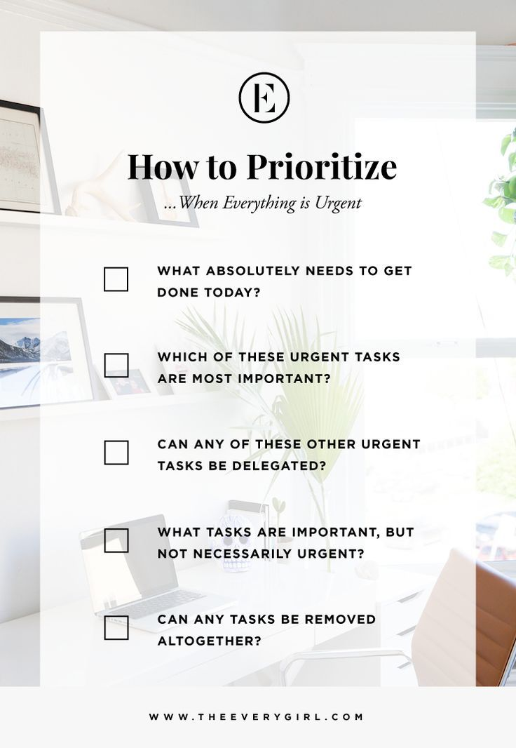 How to Prioritize When Everything Is Urgent - The Everygirl