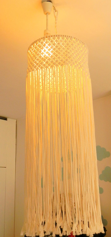 macrame ceiling hanging, wedding ceiling decor, Macrame lightning ...