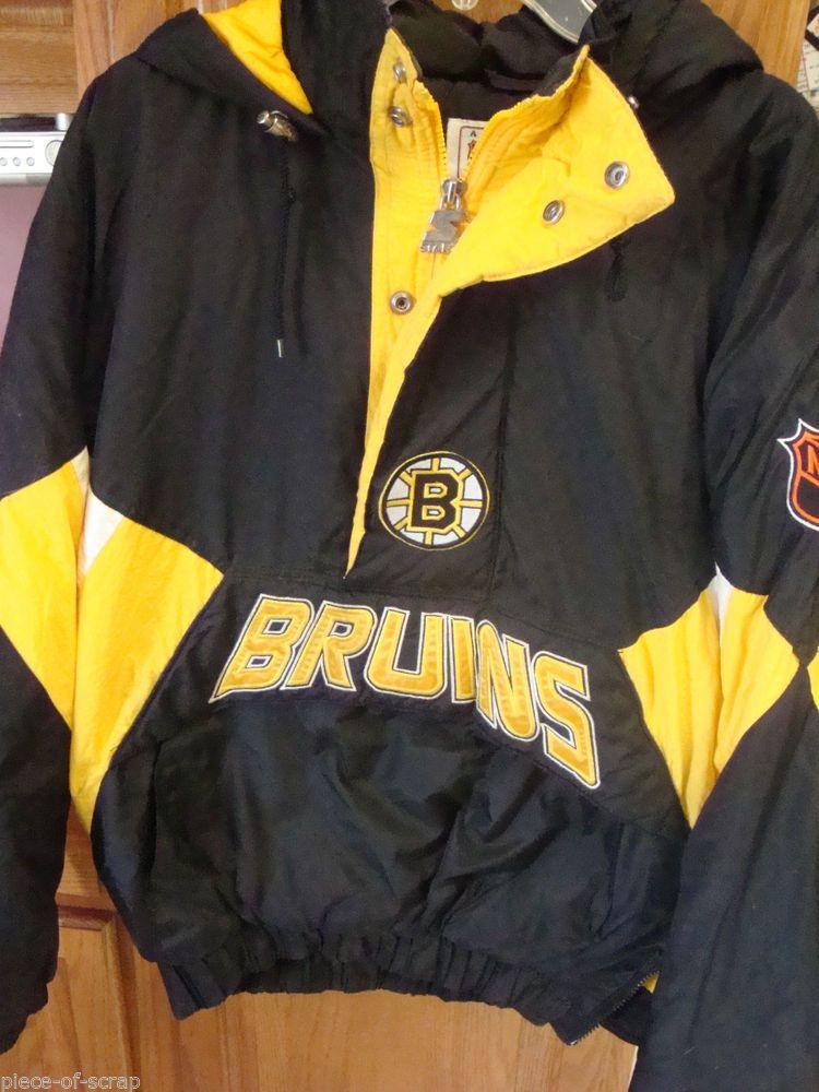 STARTER AUTHENTIC NHL BOSTON BRUINS MENS PULLOVER JACKET COAT Medium M  Hockey  Starter  BostonBruins 95786754e