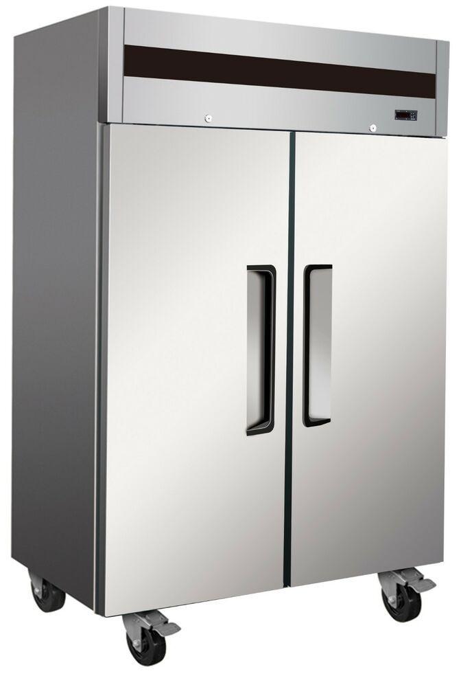Alpha At56r Commercial 2 Door Top Mount Reach In Refrigerator Refrigerator Top Mount Refrigerator Dimensions Commercial Glass Doors