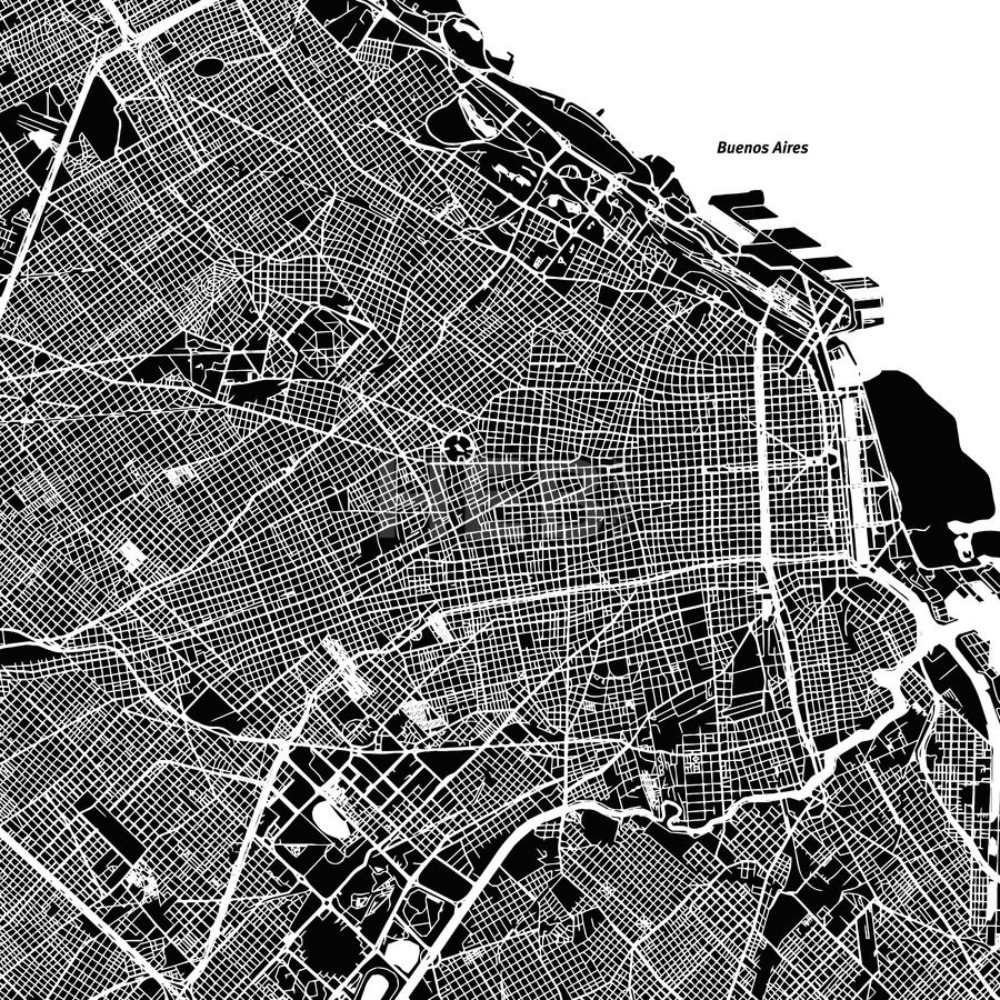 Buenos aires one color map mapas arquitectura y cuadro stock image from 099 buenos aires one color map travel map monochrome gumiabroncs Images