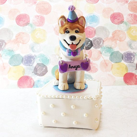 akita dog birthday cake topper birthday dog cake by