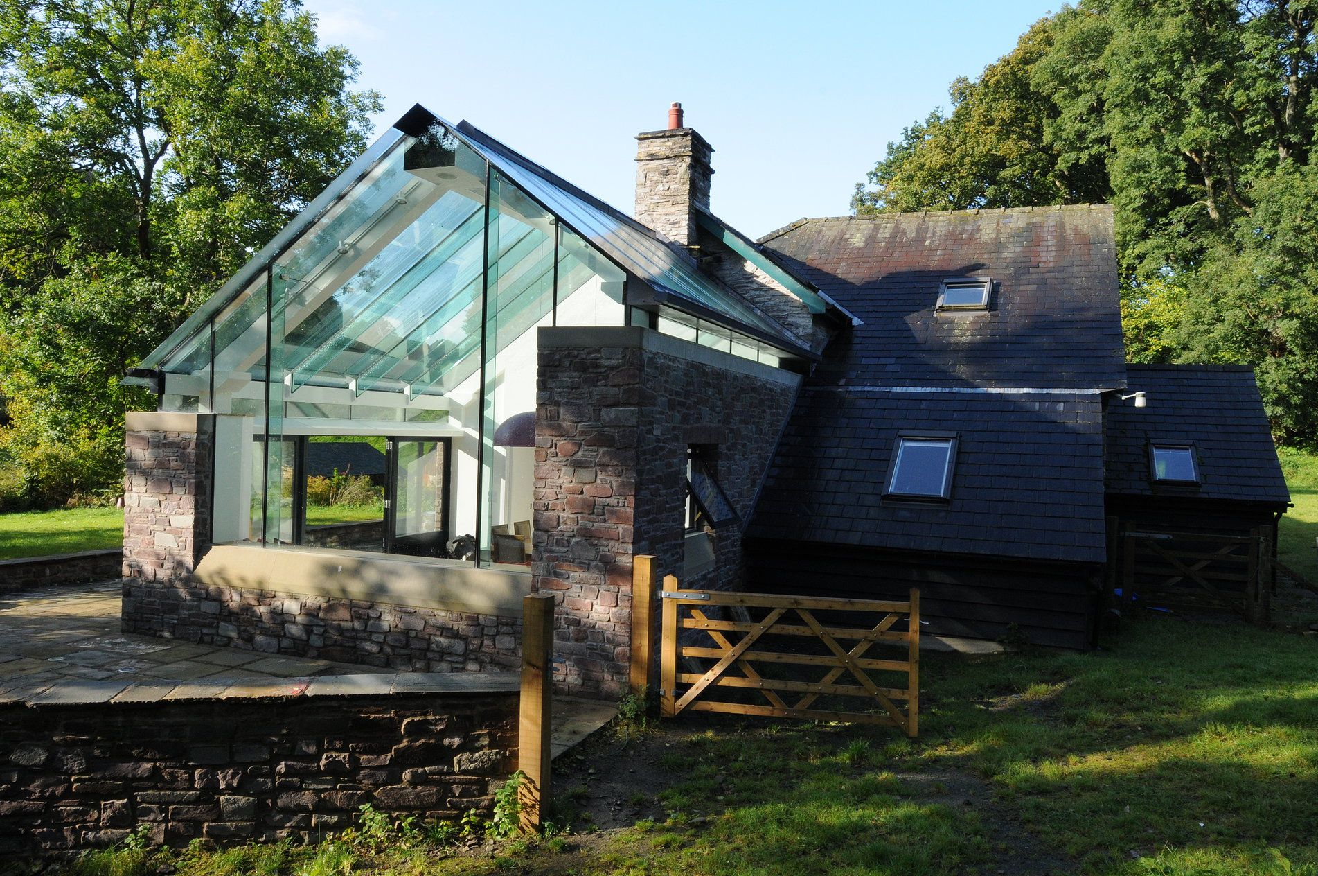 Modern Glass Extensions structural glass glazing gable  | renovatie | pinterest