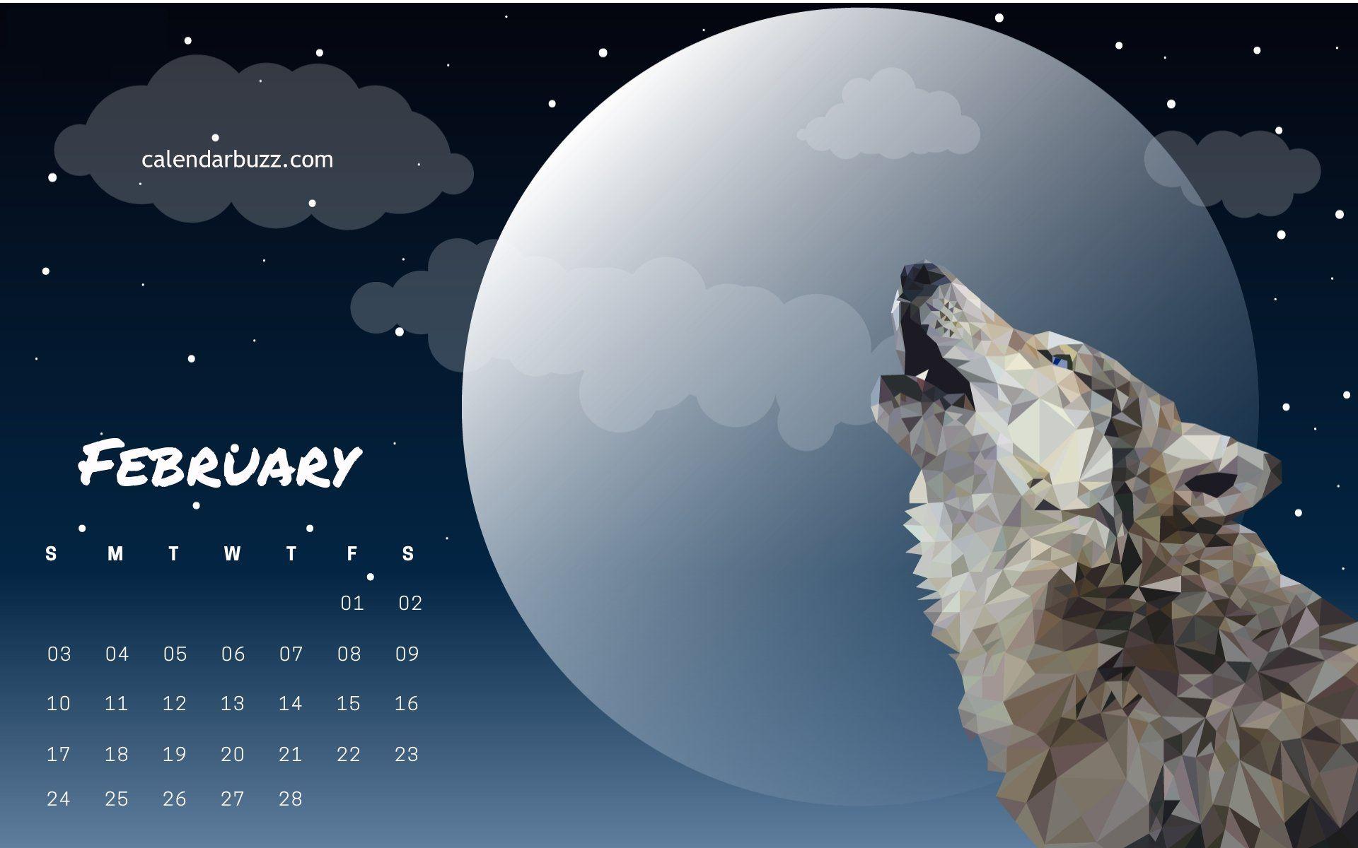February 2019 Wolf Calendar february 2019 wolf calendar wallpaper | 2019 Calendars | Calendar