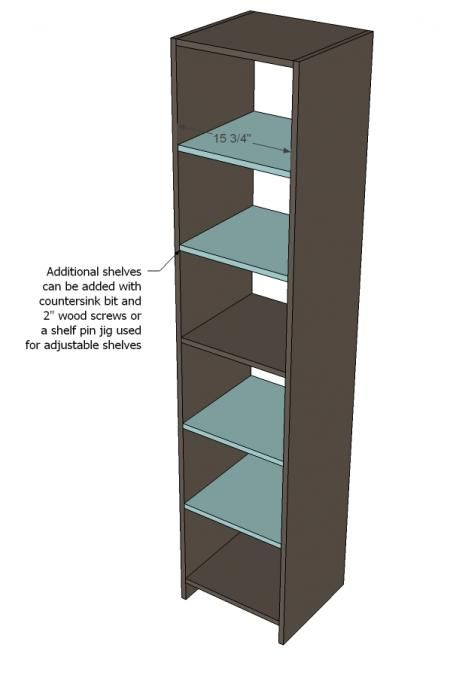 Ana White | Build a Closet Organizer from One Sheet of Plywood | Free and Easy DIY Project and Furniture Plans