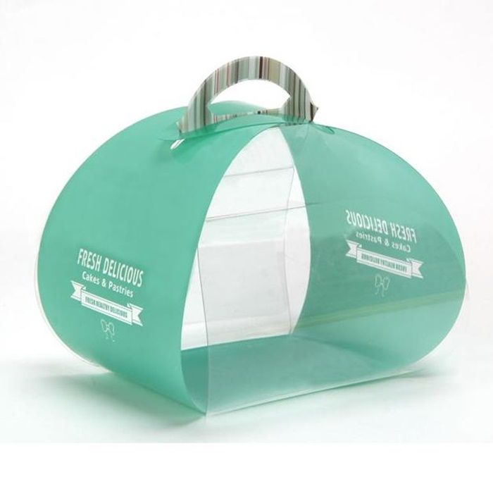 pp birthday cake packaging box transparent portable