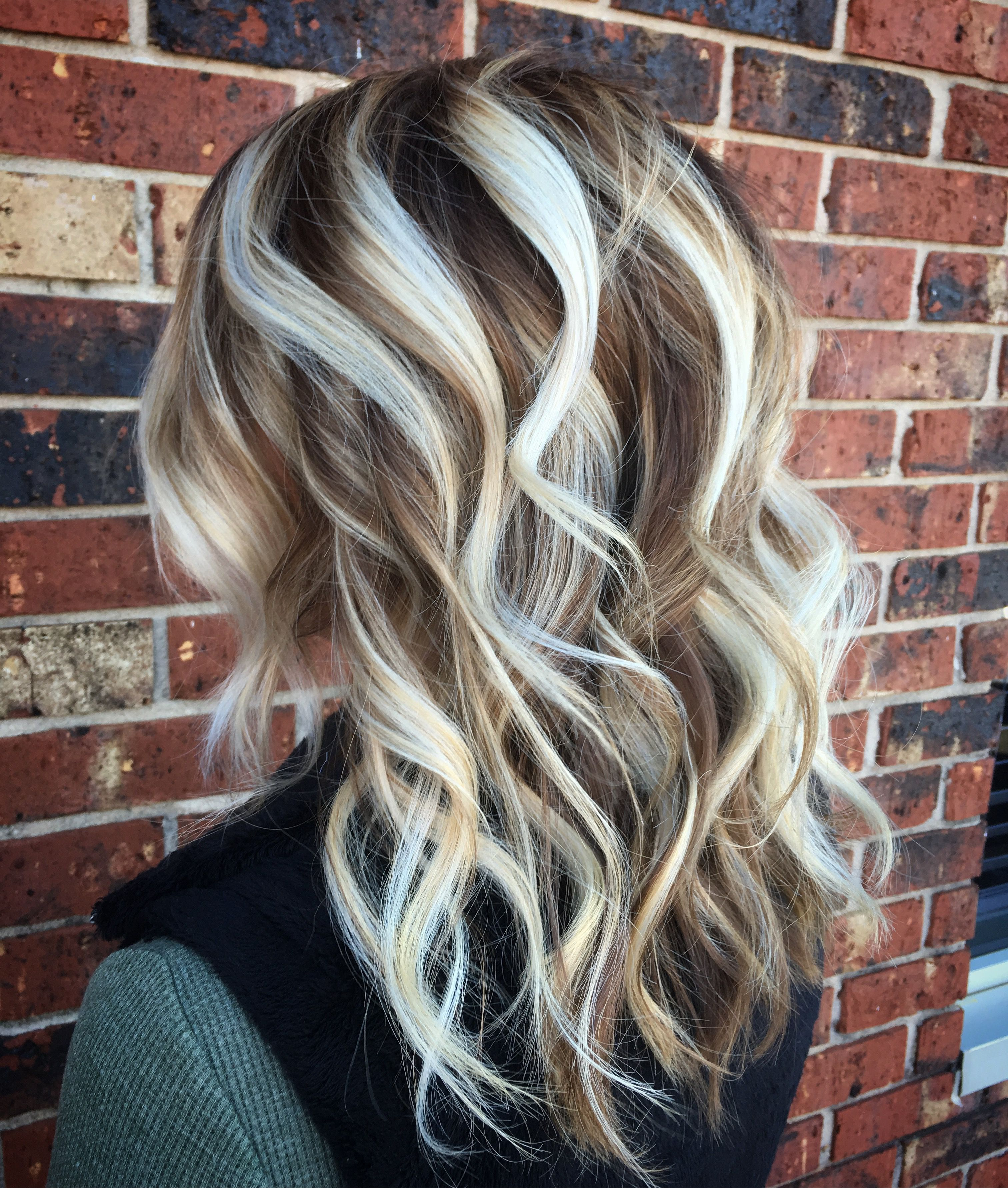 Icy Blonde Hair Balayage Painted Hair Platinum