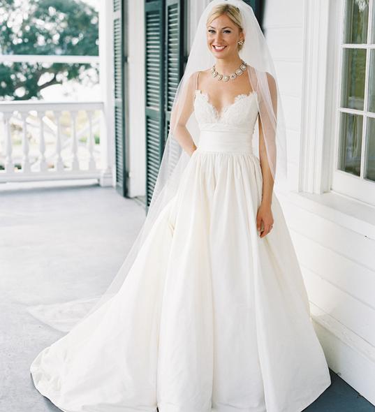 Simple Elegant 2015 Women Summer Wedding Dresses Flowing: A Classic Plantation Wedding