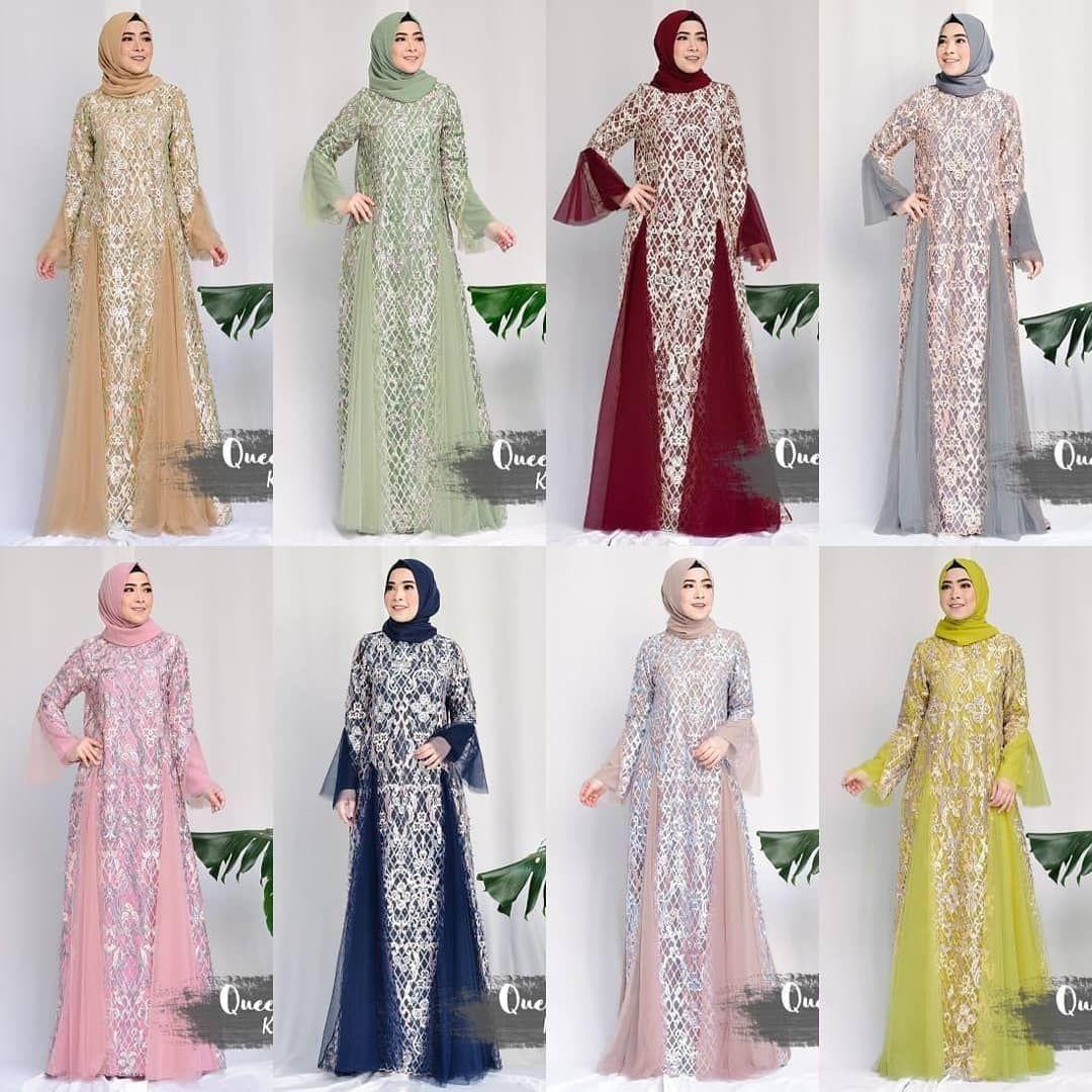 Pre Order KASHA Dress + Pashmina By Queenalabels . . Detail Matterial ity  crepe + tulle bordir 3tone + tabur mutiara + tulle LD 104 panjang 140 . 202bd779d4