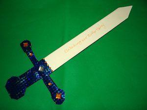 Ritterparty Einladung Schwert