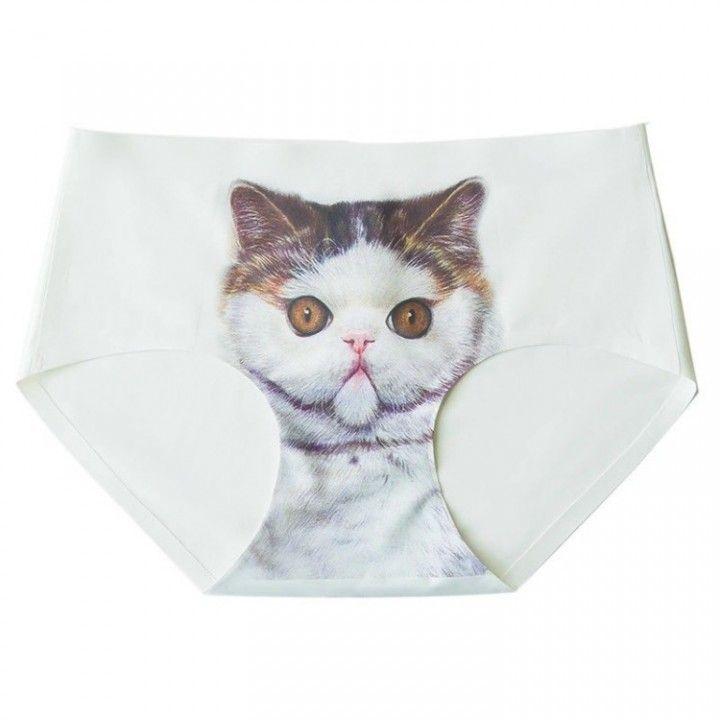 GRUMPY Large Pussycat Kitten Kitty Panties Sexy Lingerie Underwear Cat  Print Briefs 979b29905