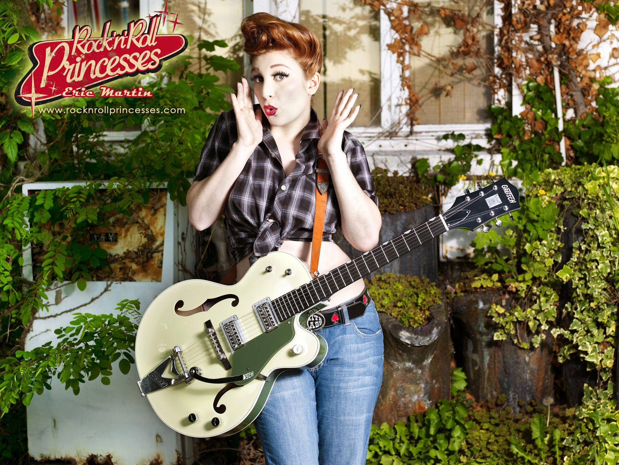 rock princess guitar wallpaper fond à cran gretsch tatuagens pin
