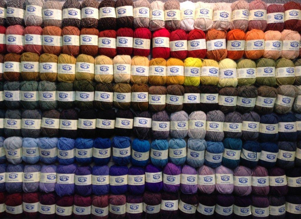 Jamieson's Shetland Spindrift wool rainbow. I would think I'd died ...