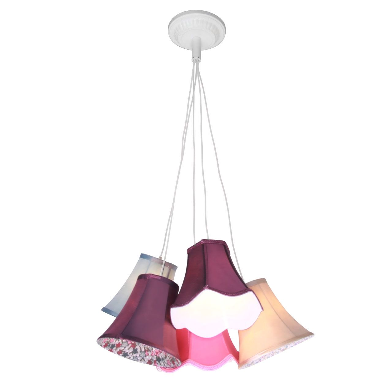 Picture of pendant light tiered 9 and 5 multi coloured shades picture of pendant light tiered 9 and 5 multi coloured shades ceiling hanging lights aloadofball Image collections