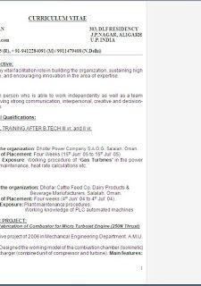 Cv Model Uk Free Download Sample Template Example Of