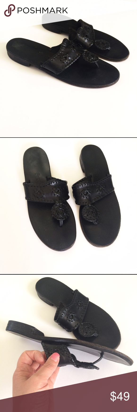 Black nice sandals - Jack Rogers Black Leather Capri Thong Sandals 10 Beautiful Capri Sandals From Jack Rogers All