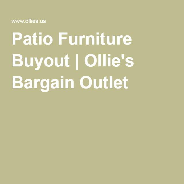 Patio Furniture Buyout | Ollieu0027s Bargain Outlet