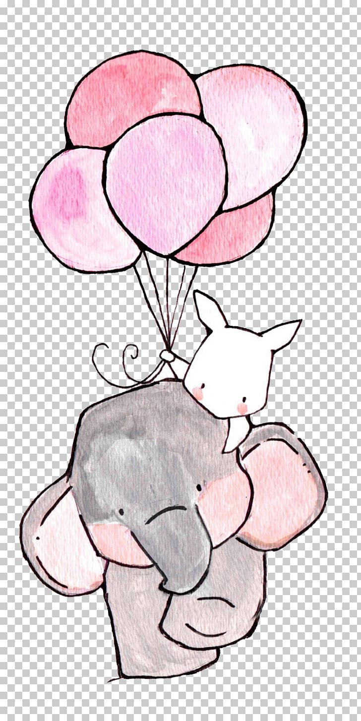 Ilustracja Druku Rysunek Papierowej Pepiniery Slonia I Bialego Krolika Slonia I Krolika Trzyma Ilust Cool Drawings For Kids Elephant Drawing Nursery Drawings