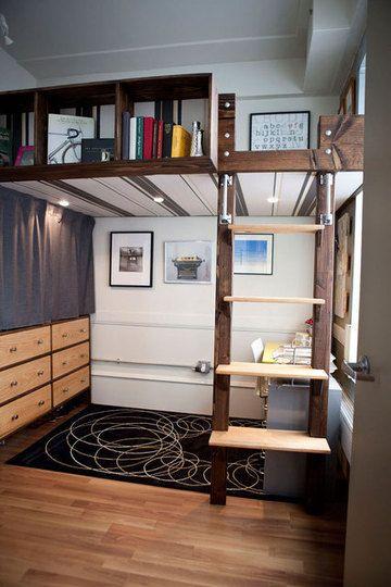 Lofty Aspirations Fifteen Lovely Loft Beds Garage Pinterest