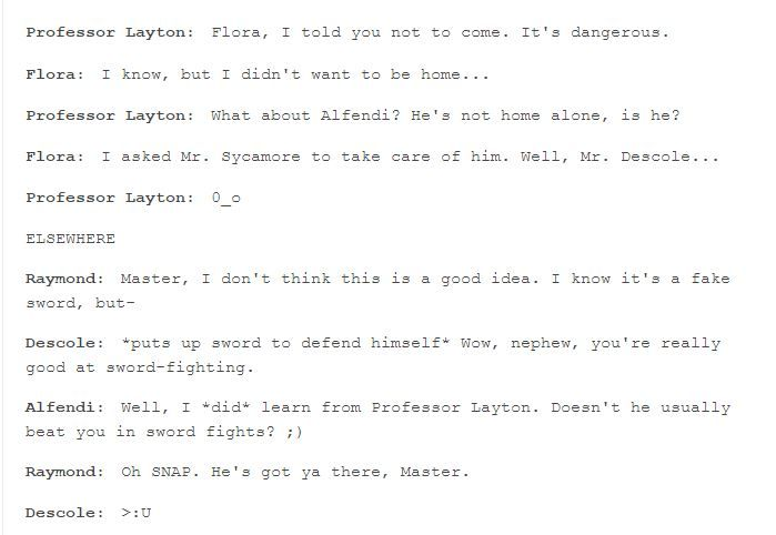 As awesome as you are, Descole, YOU JUST GOT TOLD BY ALFENDI LAYTON