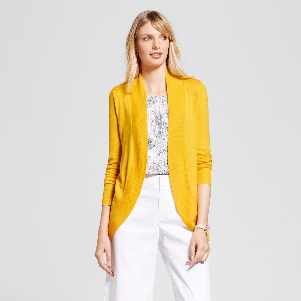 Women's Long Sleeve Cocoon Sweater Sunnyside - Merona Gold Xxl ...